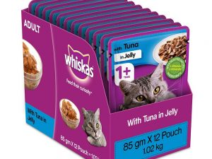 Whiskas Adult Tuna in Jelly 85g(Pack of 12)