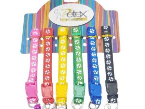 15mm Ribbon Paw Print Collar (Price Rs.125 each)