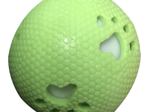 NEW PAW RUBBER CASE BALL GREEN