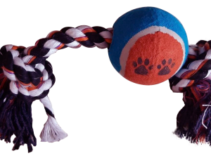 2 KNOT WITH BALL – Blue & Red