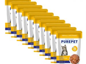 Purepet Real Tuna and Chicken Liver in Gravy 70g (pack of 12)